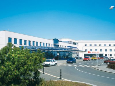Ramada Airport Hotel Prague**** - hotel building and Václav Havel Airport Prague, Terminal T3